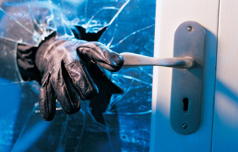Schutzfolie gegen Blitzeinbrüche, Splitterschutz